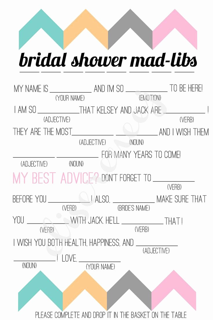 graphic relating to Free Printable Wedding Mad Libs Template identify Marriage Shower Nuts Lib Template Latter Case in point Template