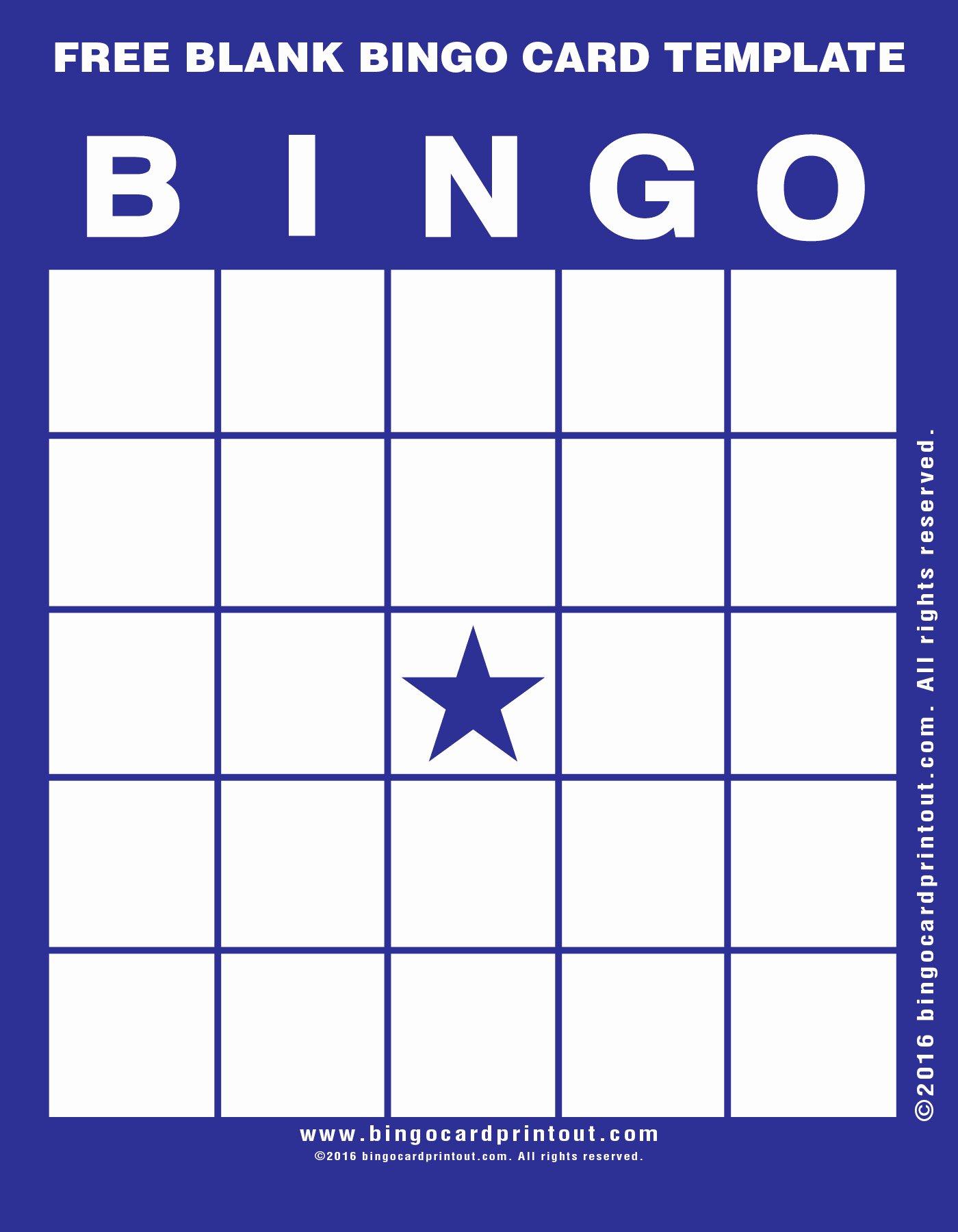 Free Blank Bingo Card Template Bingocardprintout