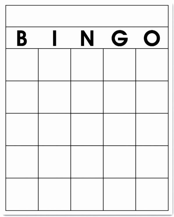 Free Blank Bingo Card Template Printable