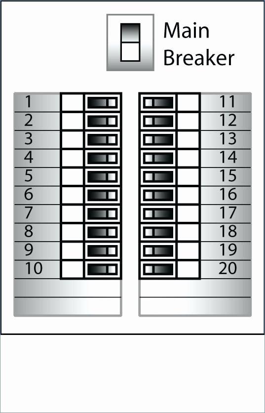 Free Breaker Box Label Template 2 Circuit – Picks