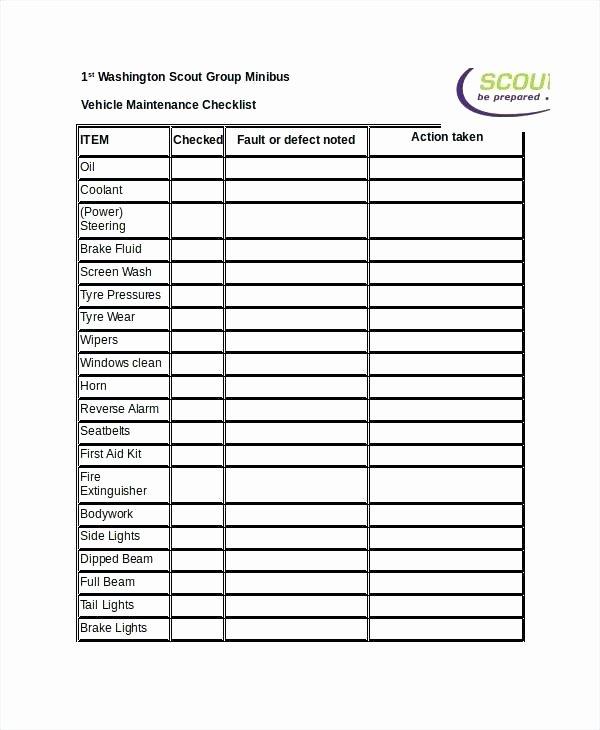Free Building Maintenance Checklist forms Best S