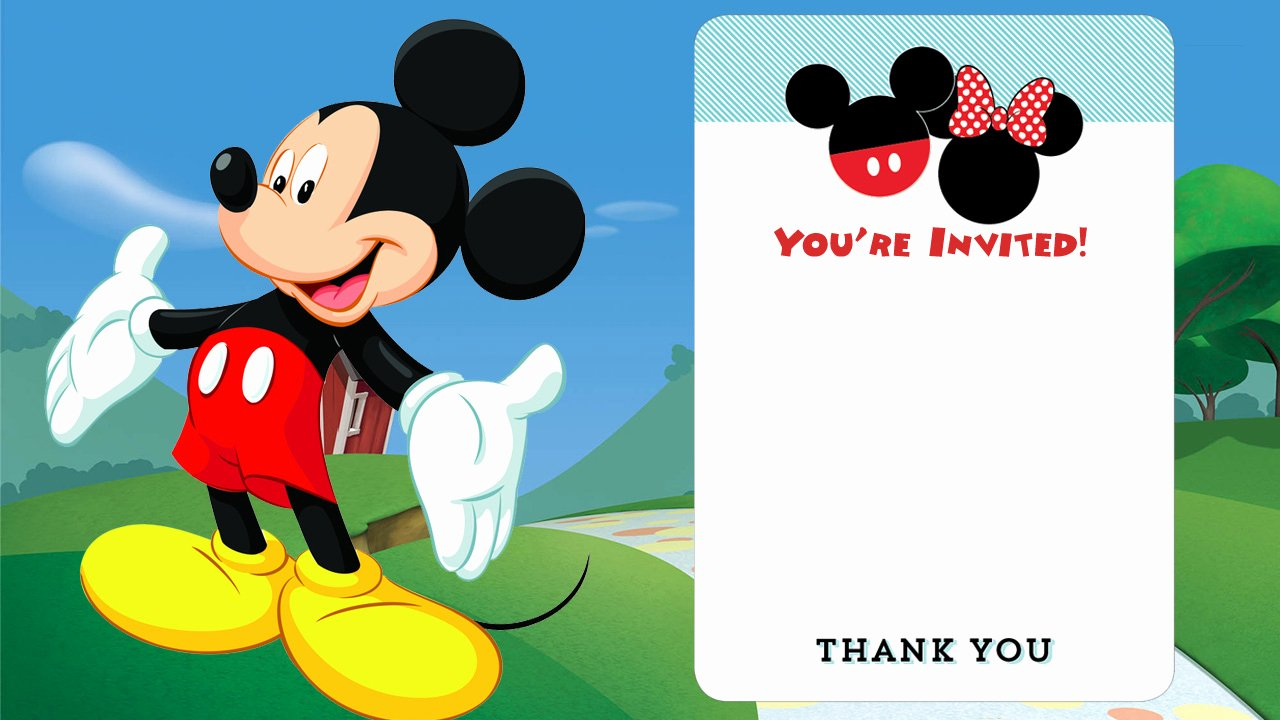 Free Disney Printable Birthday Invitations Downloadable