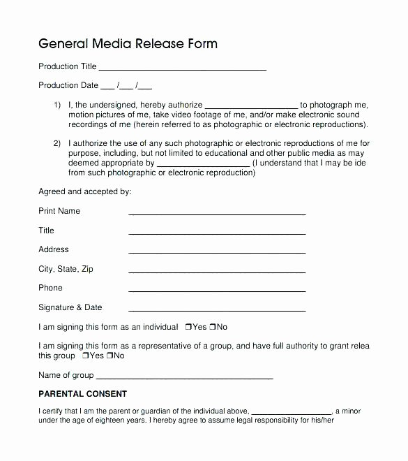 Free Graphy Print Release form Template Early Client