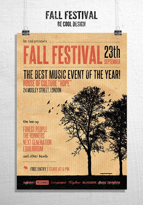 Free Kids Fall Festival Flyer Templates Chreagle