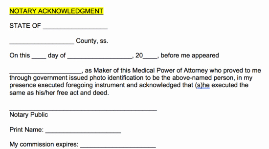 Free Medical Power Of attorney forms