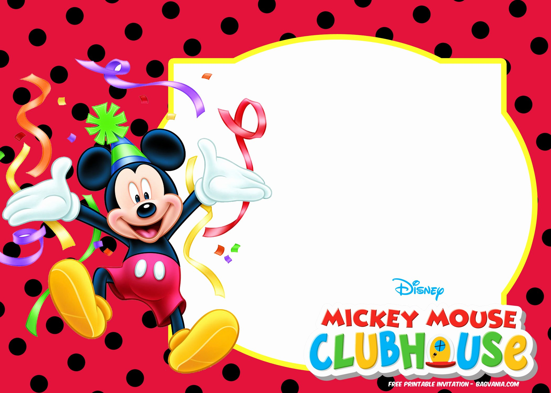Free Mickey Mouse Summer Birthday Invitations