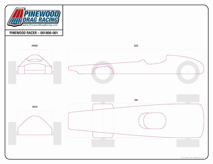 Free Pinewood Derby Template by Sin Customs