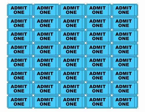 Free Printable Admit E Ticket Templates Blank