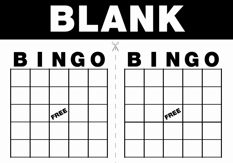 Free Printable Bingo Cards Template