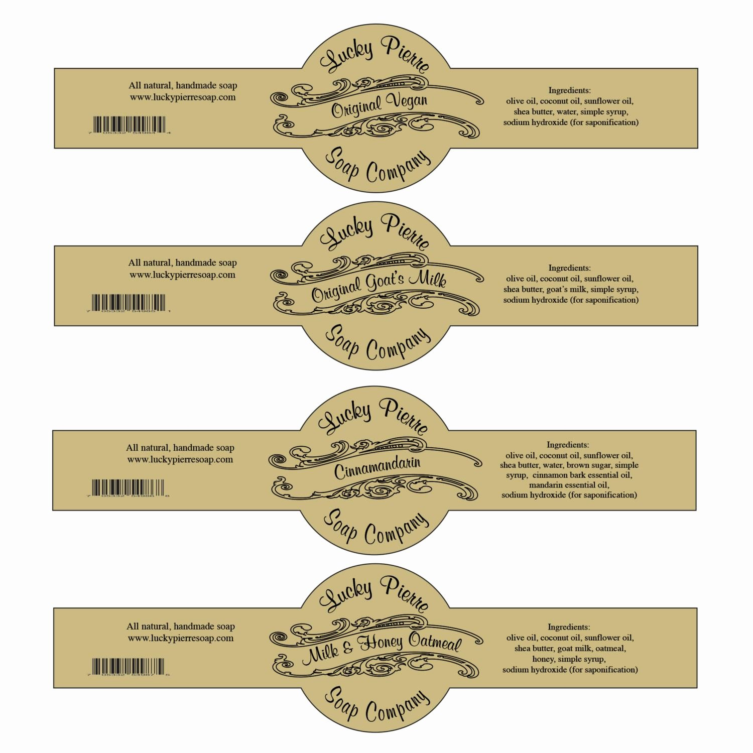 Free Printable Cigar Band soap Label Template