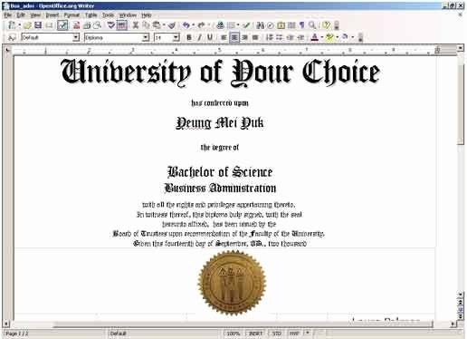 Free Printable College Diploma