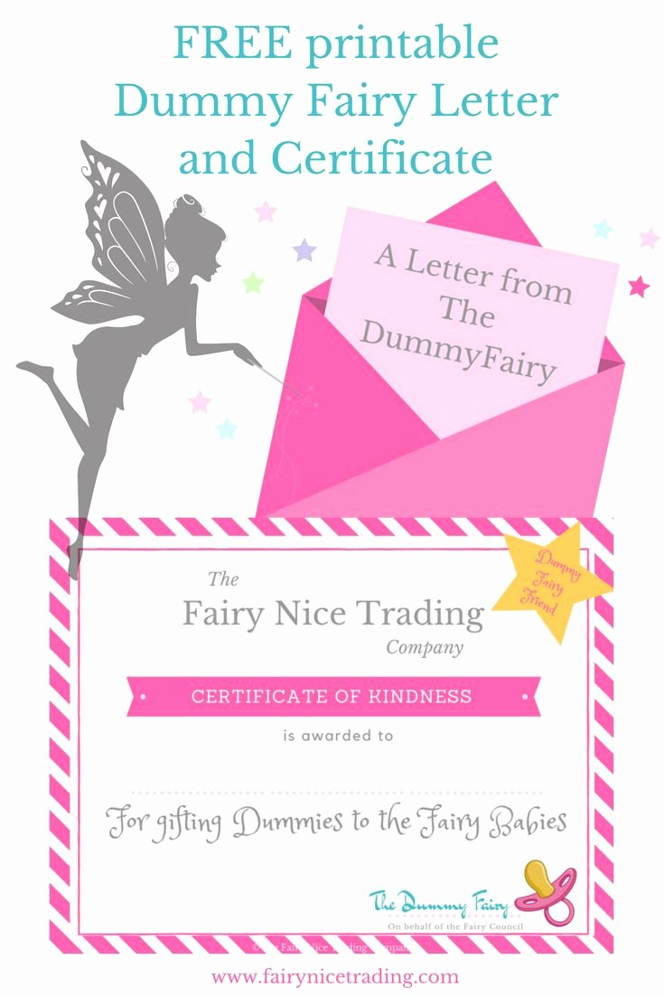 Free Printable Dummy Fairy Letter and Printable Dummy
