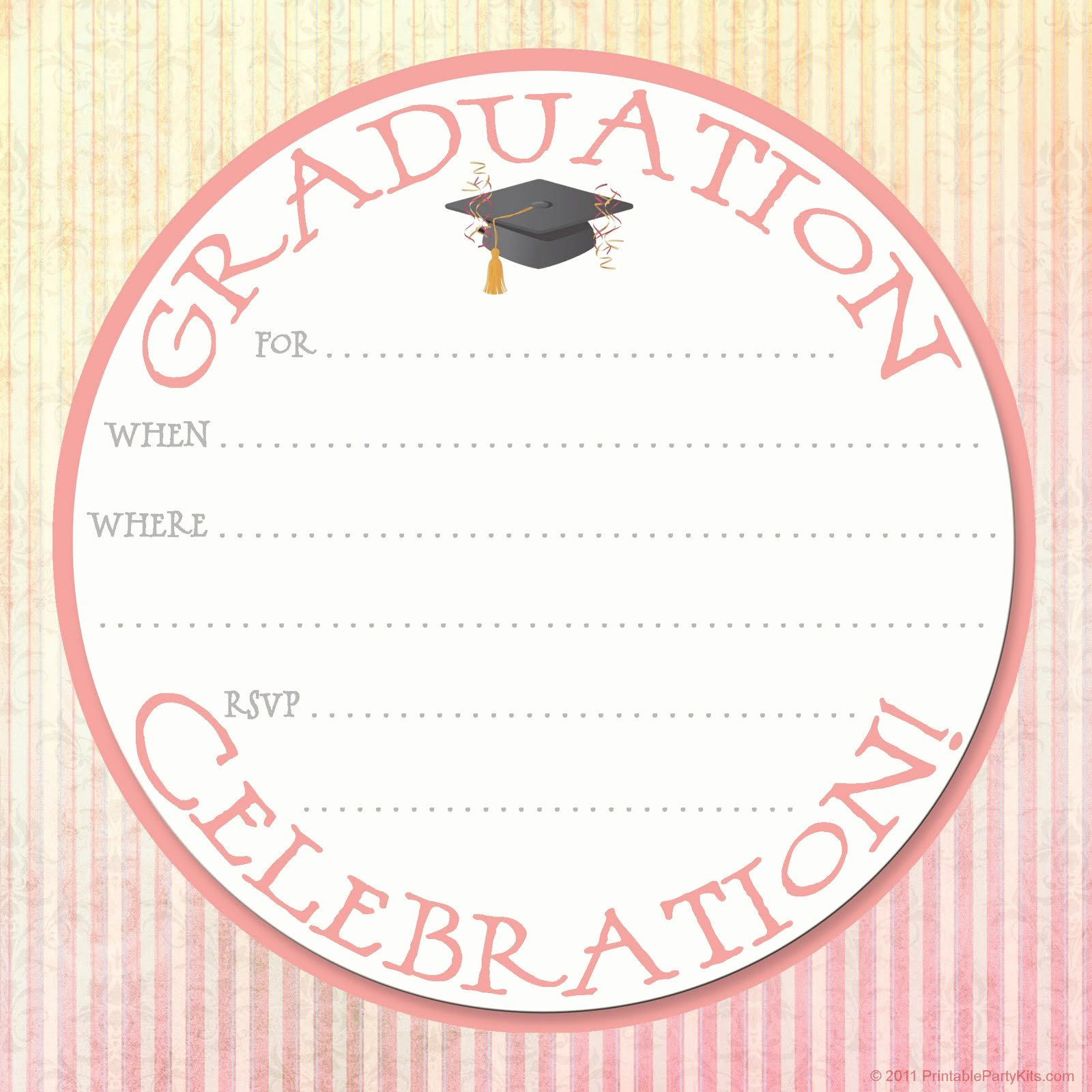 Free Printable Party Invitations Graduation Party