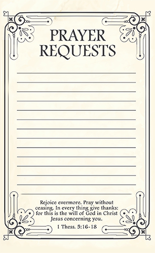 Free Printable Prayer Request forms
