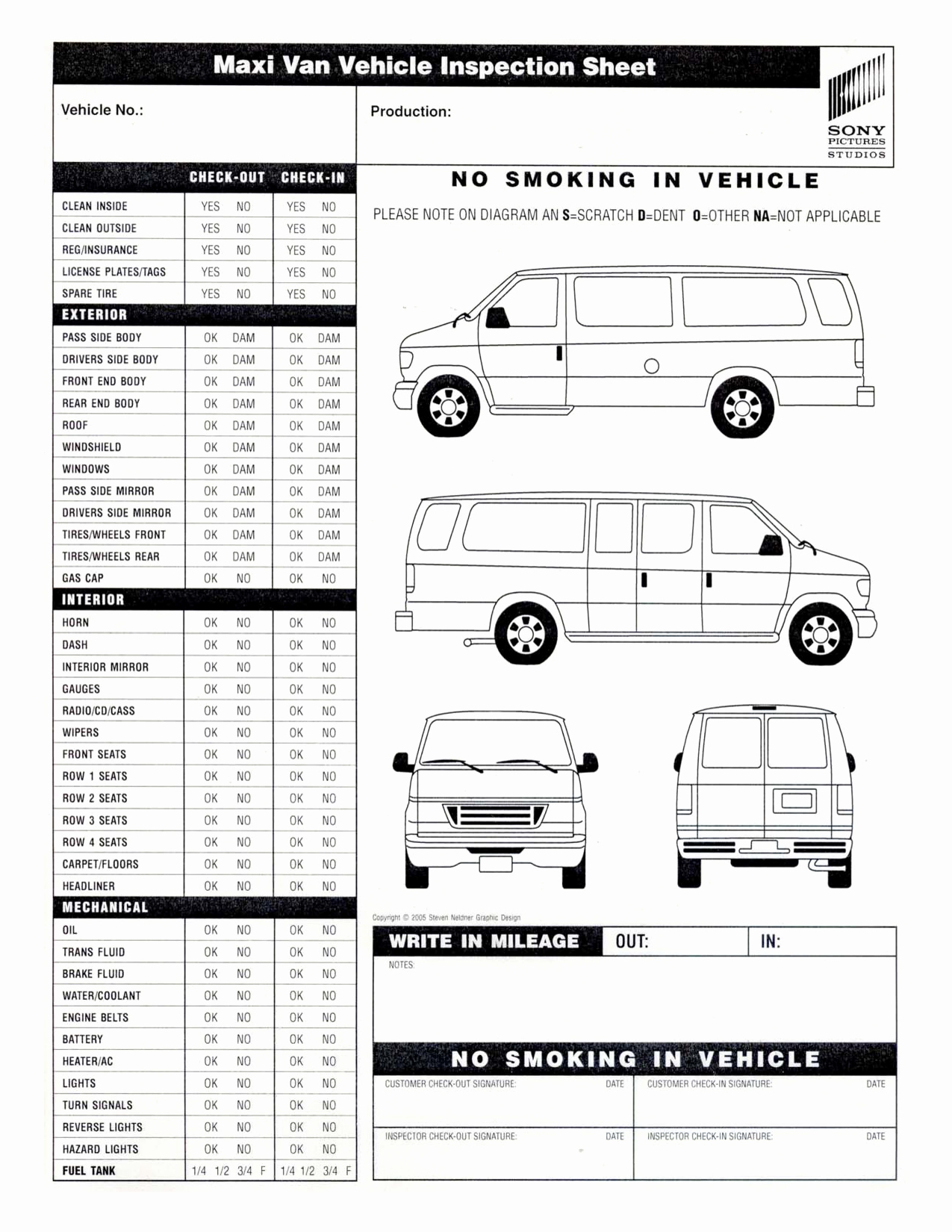 Free Printable Vehicle Inspection form – Free Download