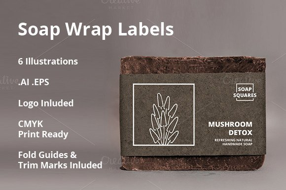 Free soap Label Template Psd Designtube Creative