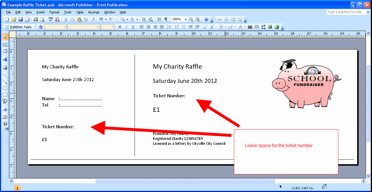 Free Ticket Maker Raffle Template Cake Ideas and Designs