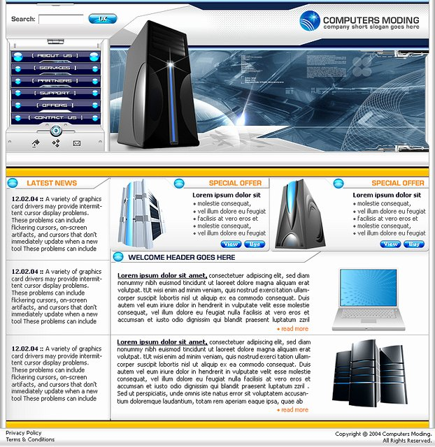 Free Web Templates Puter Services Free
