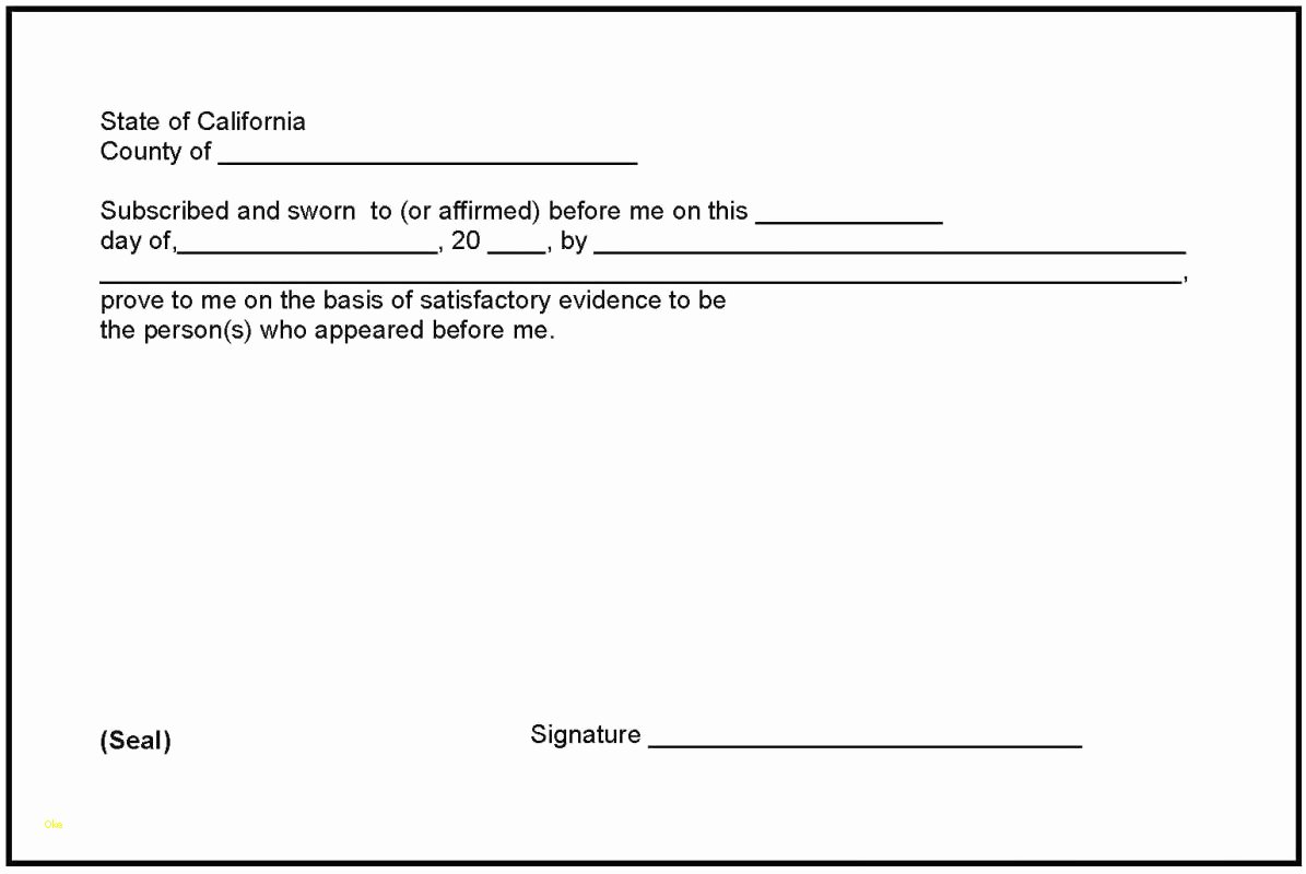 Fresh Notary Signature Block Template