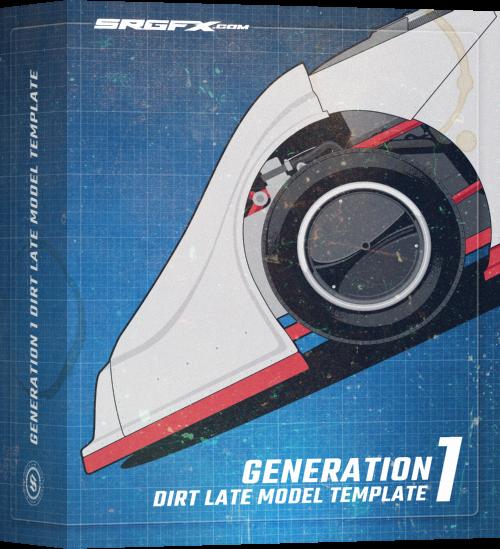 Generation 1 Dirt Late Model Template