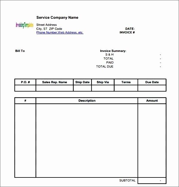 Generic Invoice