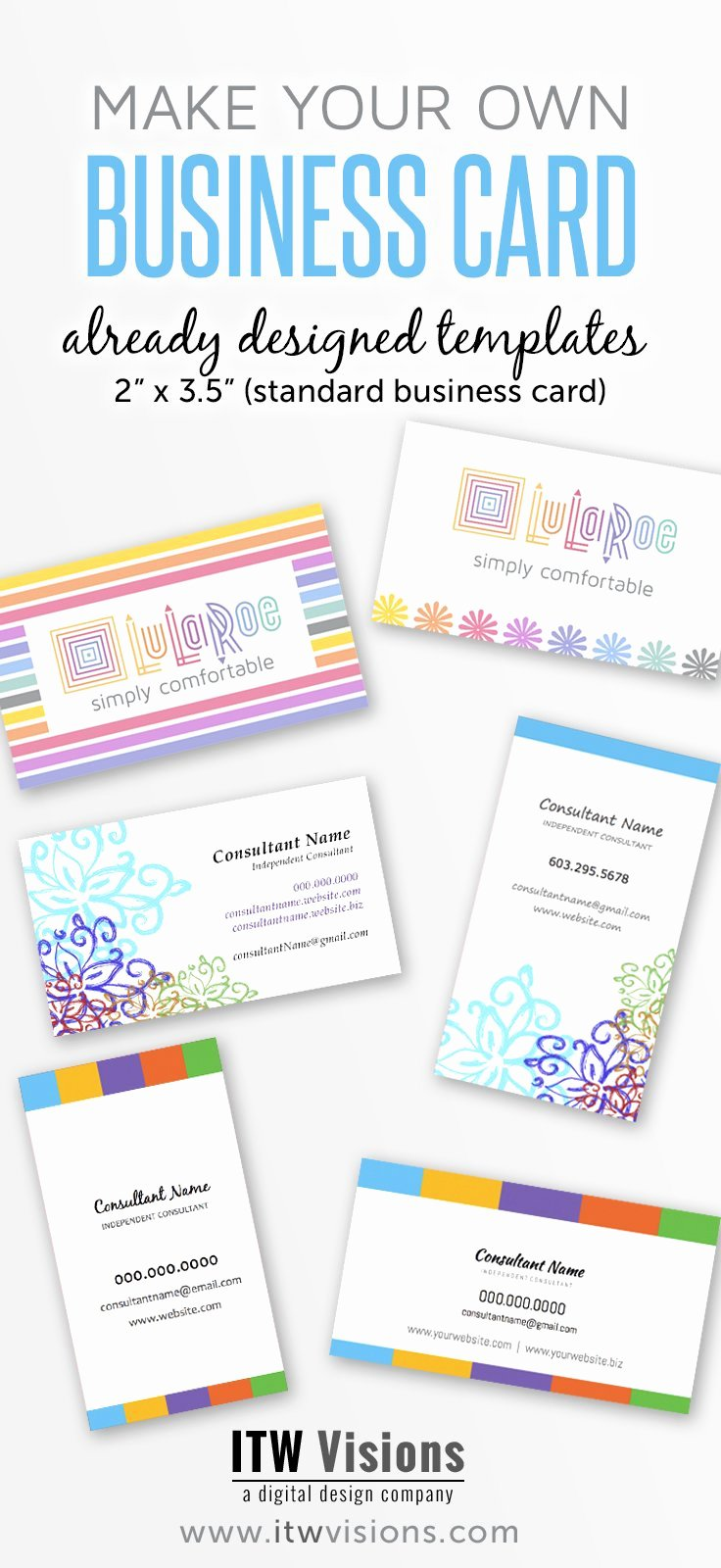 Genuine Graph Lularoe Business Card Designs