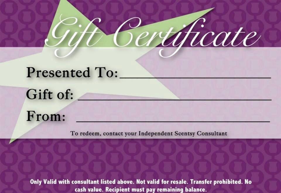 Gift Certificate Https Lisakoenigentsy