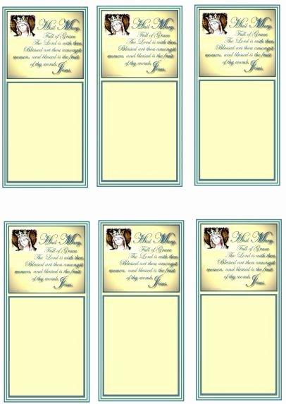 Hail Mary Prayer Cards original Design