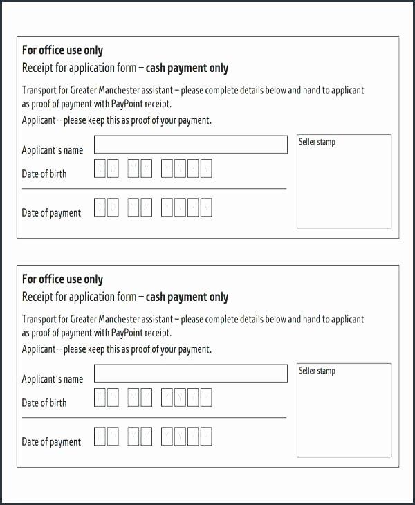 Hand Written Receipt Template Elegant Partial Payment