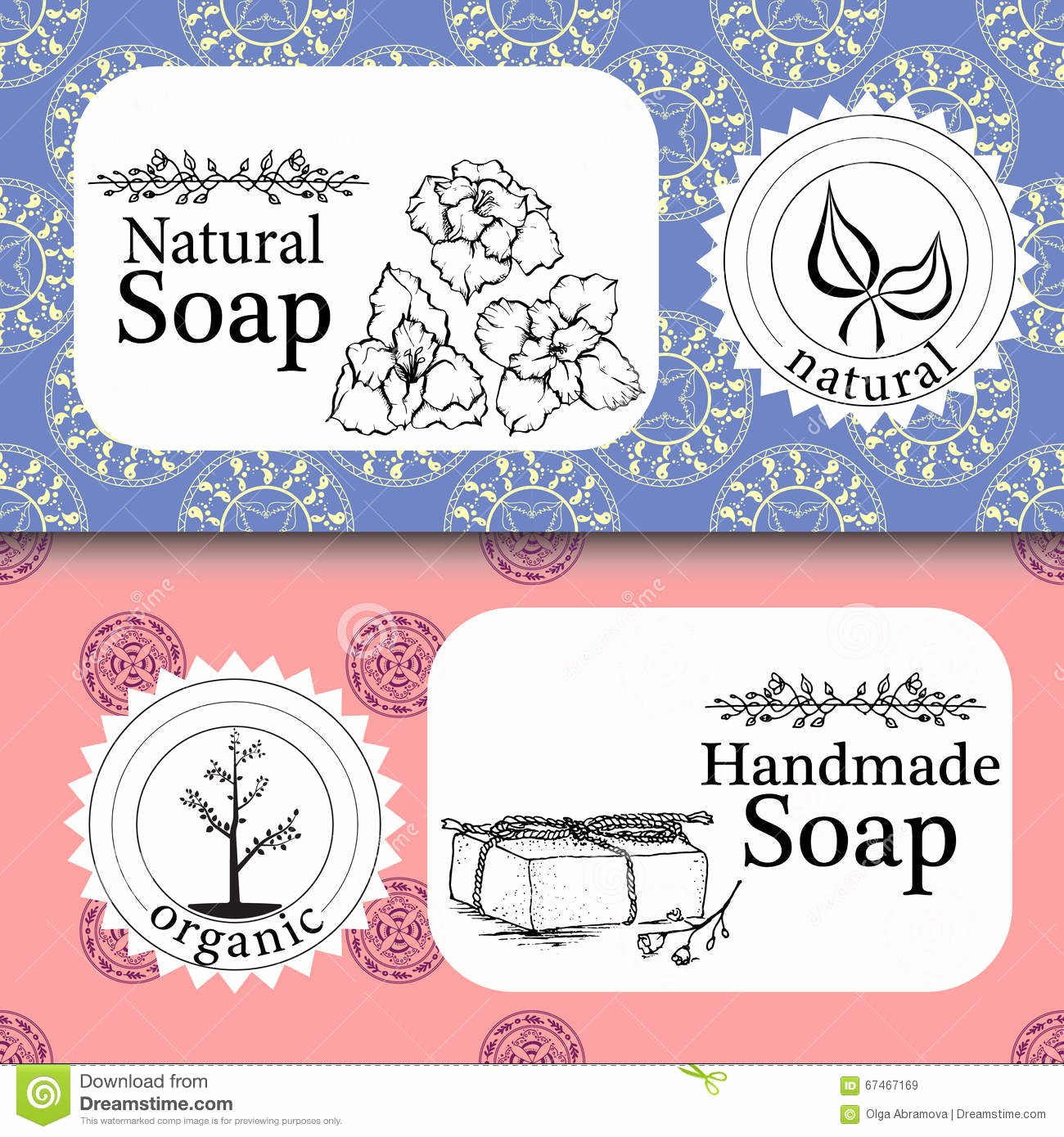 Handmade soap Label Template