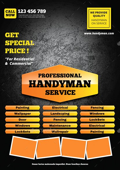 Handyman Flyer by Monggokerso