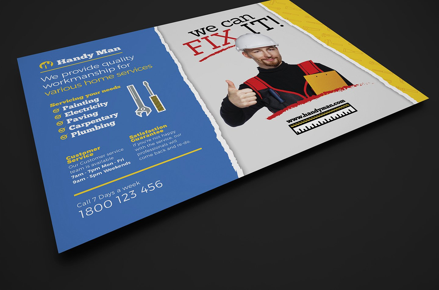 Handyman Flyer Template for Shop & Illustrator