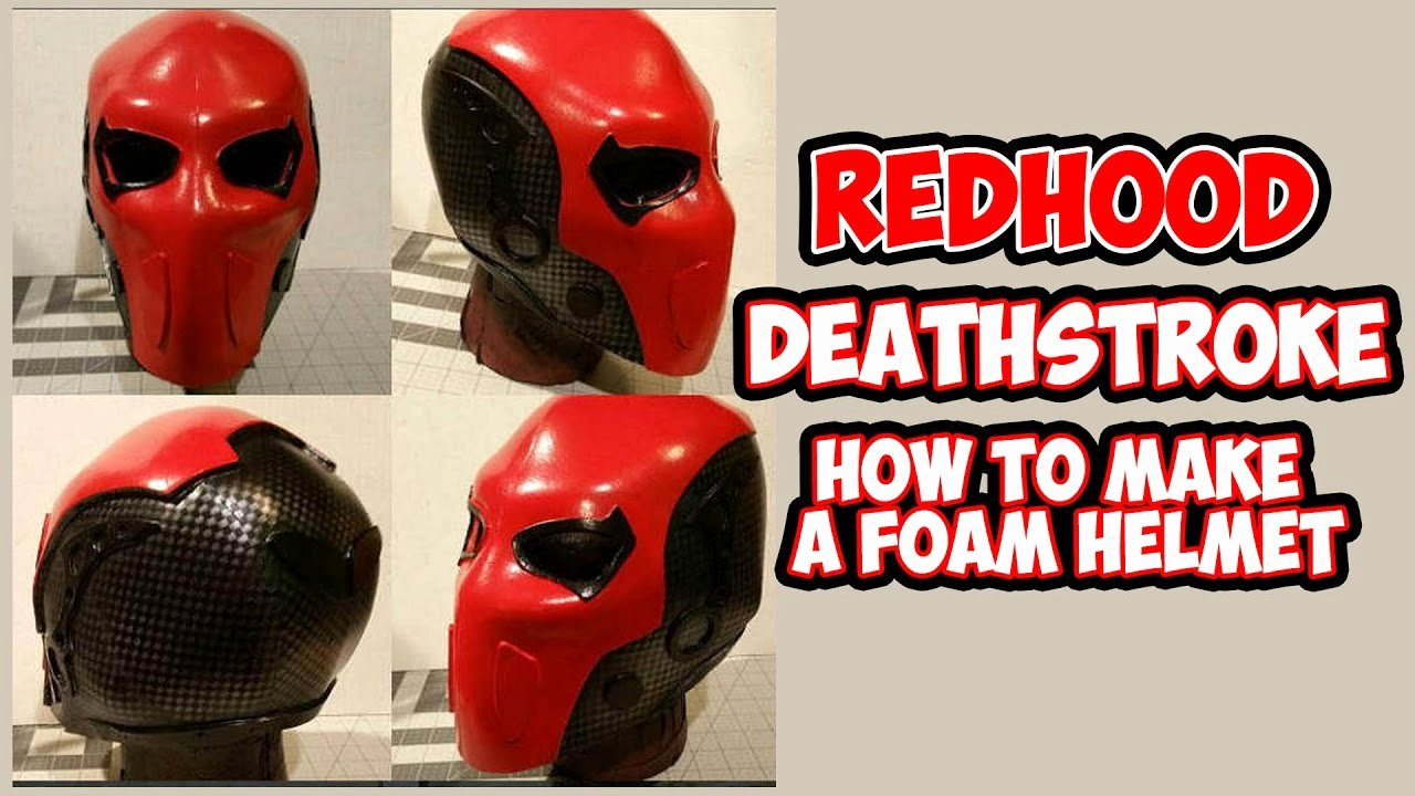 How to Diy Deathstroke Redhood Foam Helmet with Templates