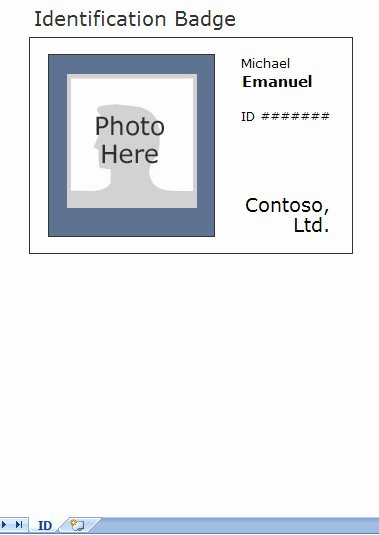 Identification Card Template