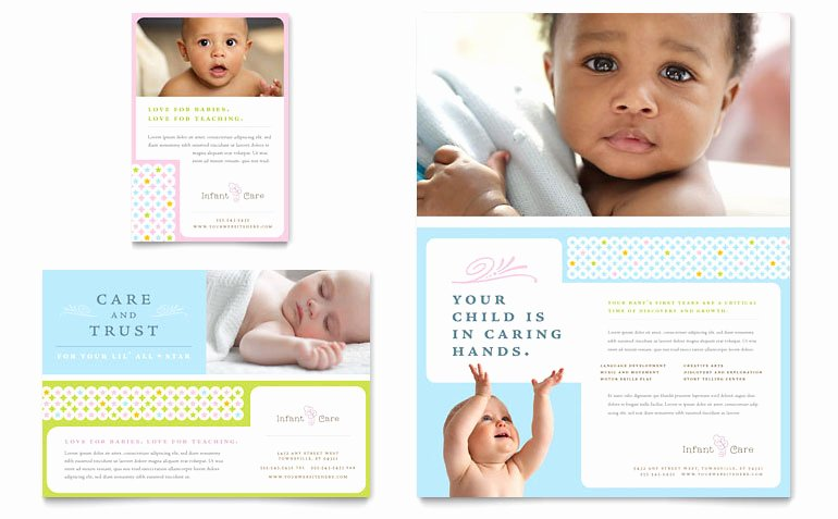Infant Care & Babysitting Flyer & Ad Template Word