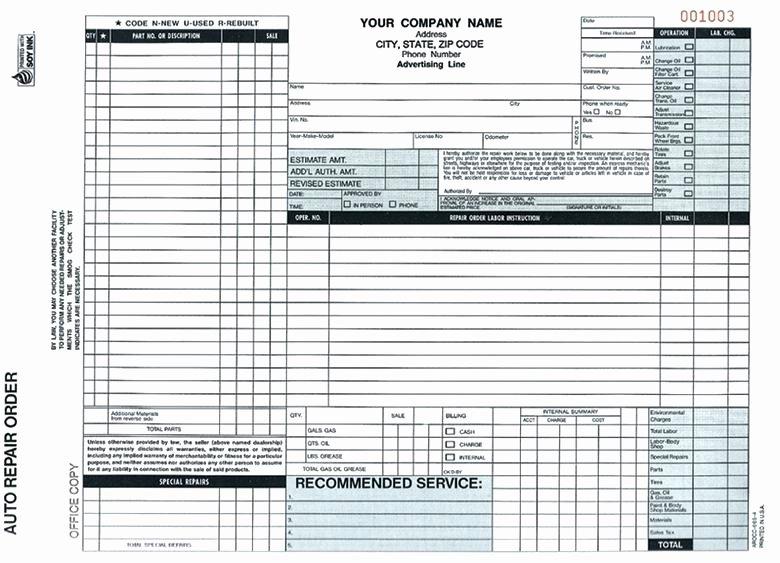 Inspirational Auto Repair Invoice forms Pics Free