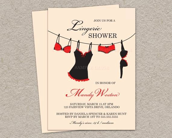 Items Similar to Printable Lingerie Shower Invitation