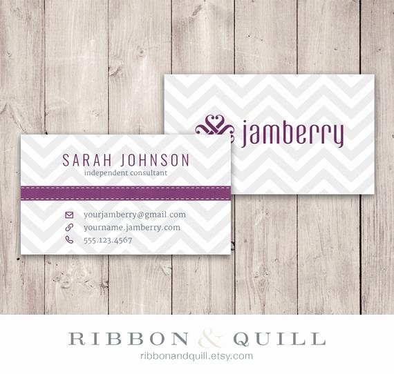 Jamberry Nails Business Card Chevron Custom Pdf by