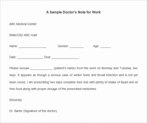 Kaiser Permanente Doctors Note Template Invitation Template