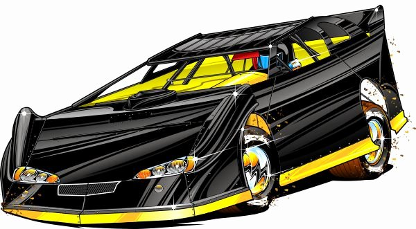 Late Model Dirt Car Clipart Collection