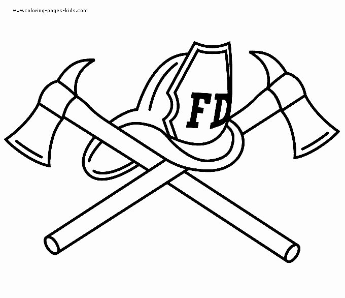 Lego Firefighter Coloring Pages