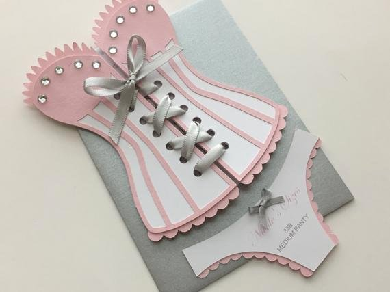 Lingerie Shower Bridal Shower Corset Invitation with