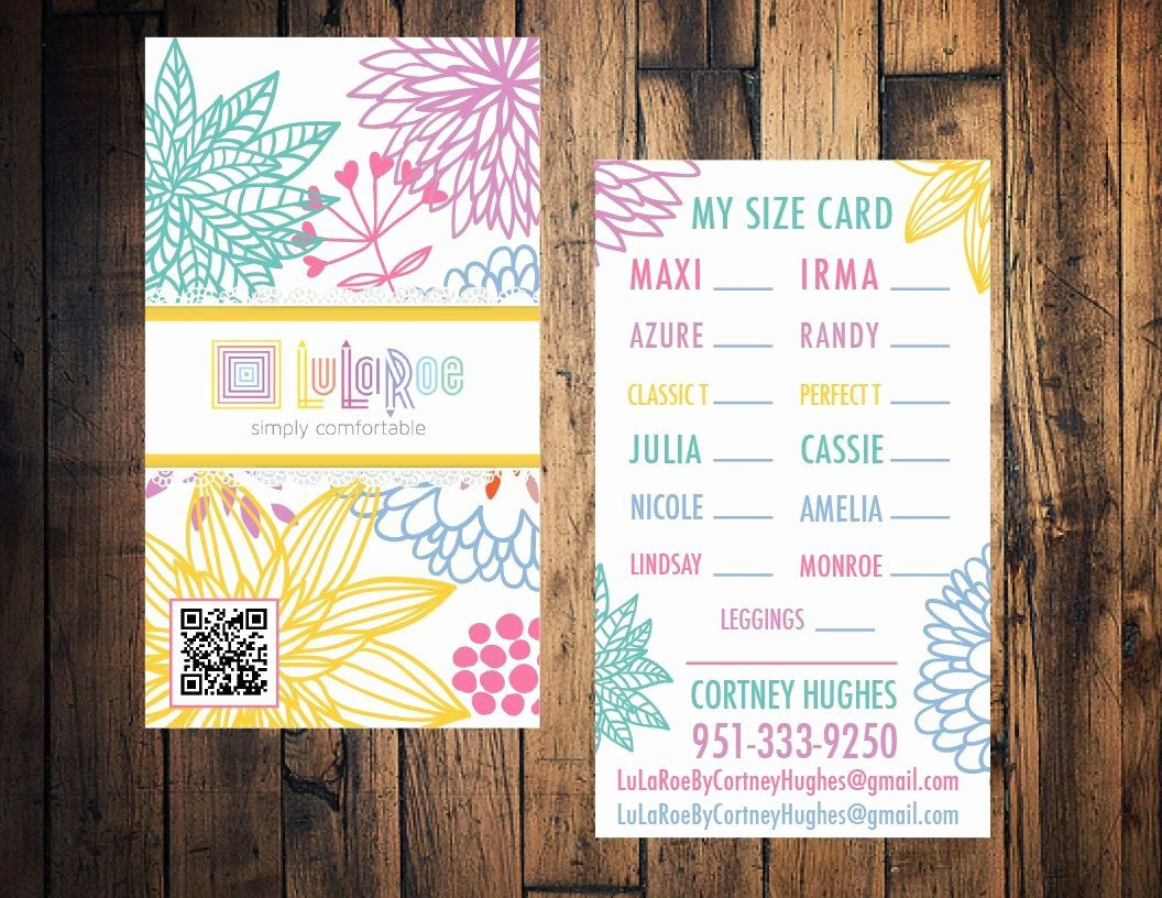 Lularoe Business Card Lularoe Size Card Lularoe Thank