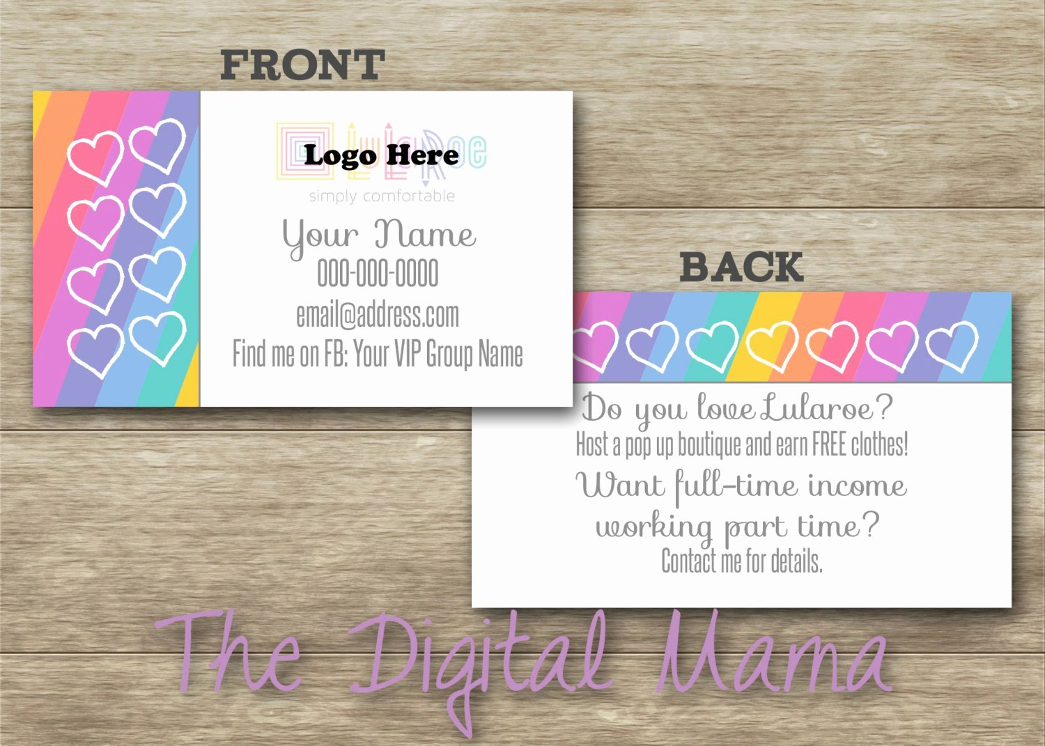 Lularoe Consultant Business Cards Design by thedigitalmama