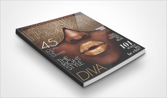 magazine cover psd template