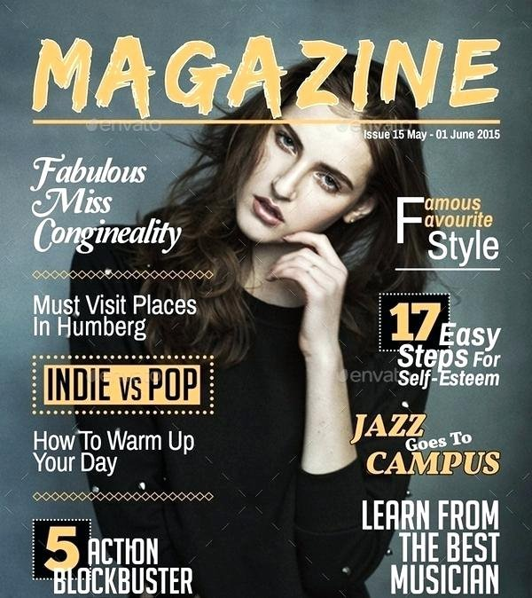 Magazine Cover Template Templates Free Blank