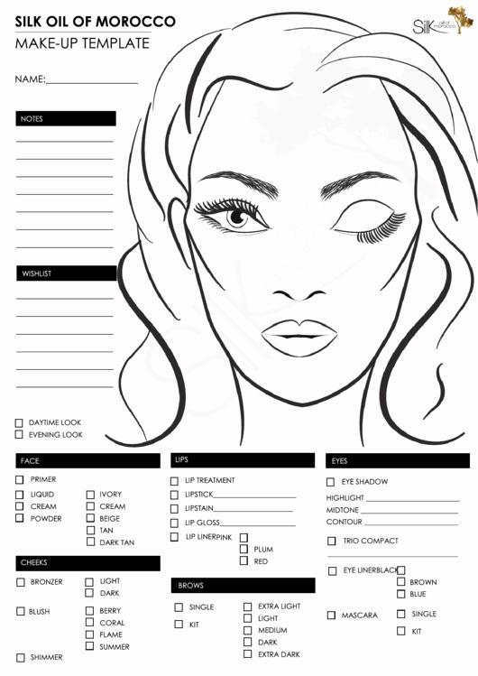Make Up Face Template Printable Pdf