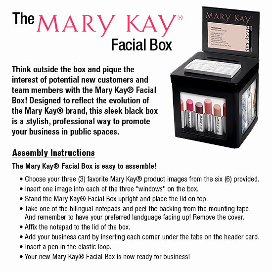 Mary Kay Customer Information Cards