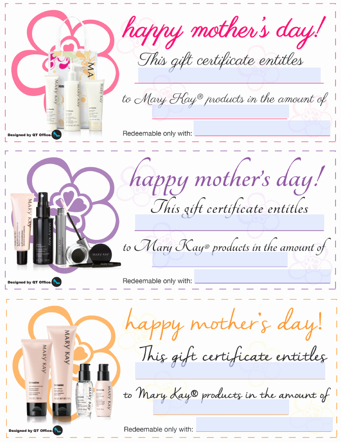 Mary Kay Mother S Day Gift Certificates
