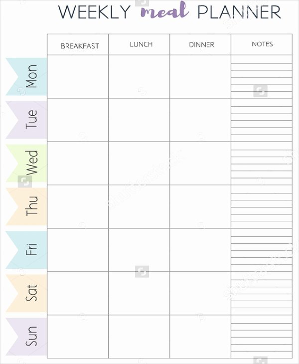 Meal Plan Template 21 Free Word Pdf Psd Vector